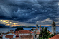 Sunrise storm clearing, Rab